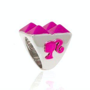 nOir x Barbie Pink Pyramid Stud Ring Mattel 7